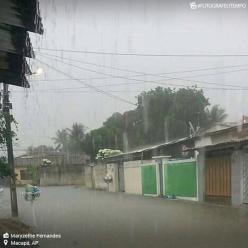 Volume de chuva ultrapassa a média de janeiro em Macapá