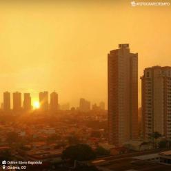 Centro-Oeste continua com muita fumaça e calor acima dos 40°C