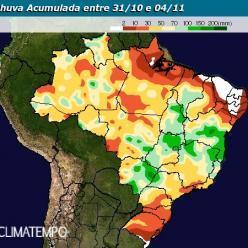 Chuva retorna as áreas produtoras do Brasil