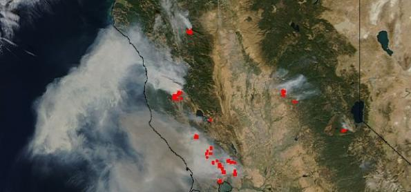 Incêndios na Califórnia diminuem