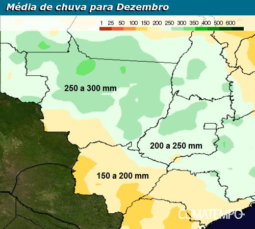 Centro-Oeste - <a href='https://www.climatempoconsultoria.com.br/levantamento-de-dados-meteorologicos/' >Clima</a>tologia de chuva de dezembro
