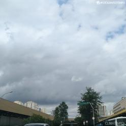 Pancadas de chuva sobre a Grande SP