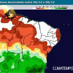 Chuva aumenta na Bahia até o fim da semana