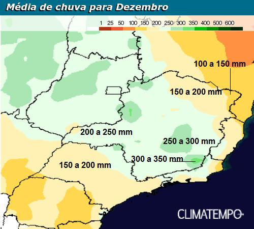 Sudeste-climatologia de chuva _dezembro