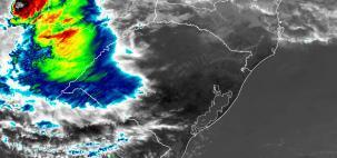 Baixa Pressão se aproximando da Região Sul