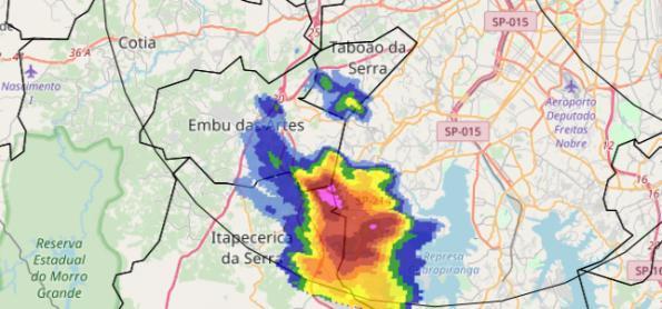 Chuva forte na Grande SP e no Vale do Paraíba