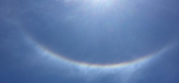 Halo solar se forma em SP e no RJ