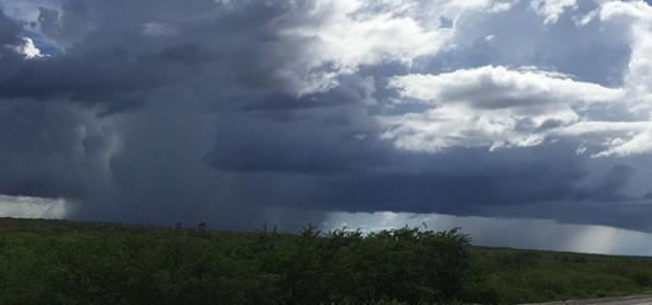 Risco de chuva forte sobre Minas Gerais e no Espírito Santo