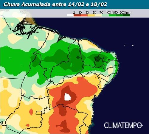 Até domingo, deve chover 100 mm em JP, quase o esperado para fevereiro inteiro