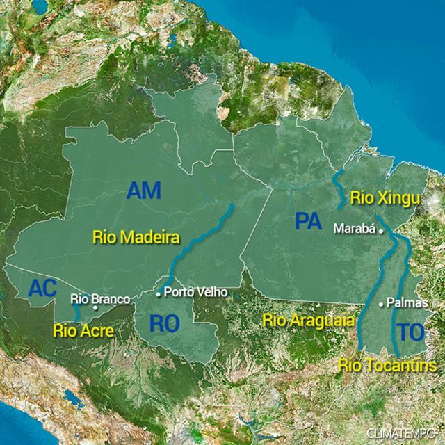 Rios Norte do BR