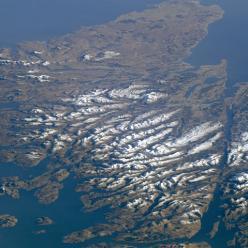 Astronauta captura imagem rara de montanhas na Escócia