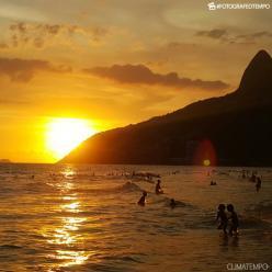 Sol forte e calor para o Rio de Janeiro