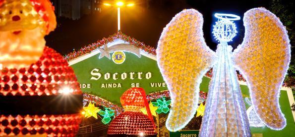 """Garrafas pet do """"Luzes de Natal"""" encantam a cidade de Socorro- SP"""