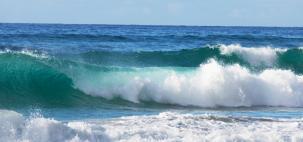 Ventania e mar agitado no litoral da Região Sudeste