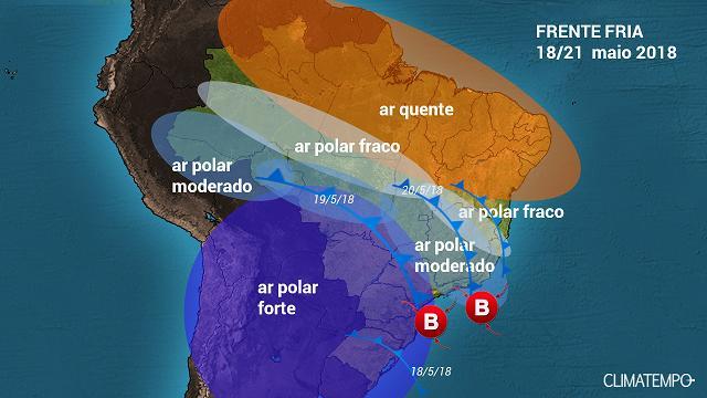 Frente fria chega com força neste fim de semana em Cuiabá
