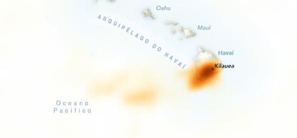 Erupção de vulcão espalha dióxido de enxofre em região do Havaí