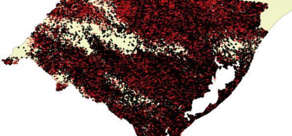 Mais de 100 mil raios em 48h sobre o Rio Grande do Sul