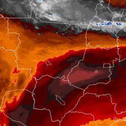 Umidade no ar cai para 10% no CO e calor se aproxima dos 40°C