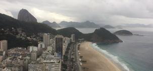 Tempo instável com chuva no Rio de Janeiro