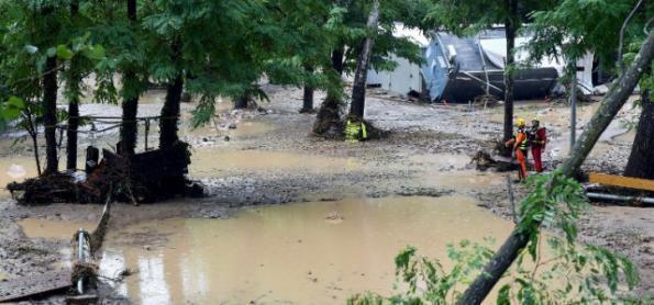 Temporal causa inundações no sul da França