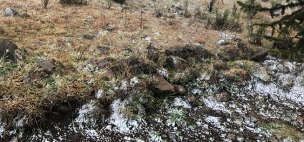 Serra catarinense registra neve mais uma vez