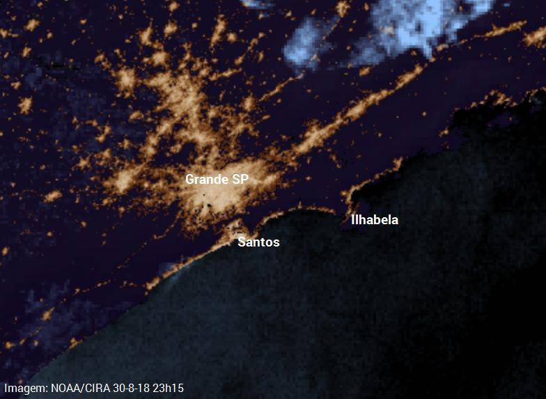 Nevoeiro marítimo noturno Santos 30-8-18_dissipação