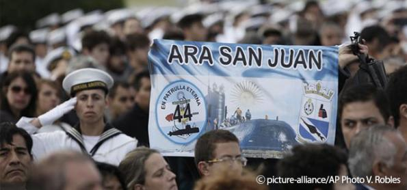 Argentina diz que não há tecnologia para retirar submarino