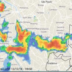 Chuva forte sobre a Grande SP