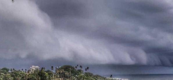 Frente fria muda o tempo na Bahia