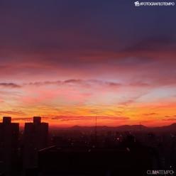 O céu encantado de São Paulo em uma terça-feira