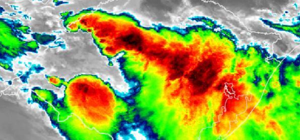 Acumulado de chuva passa de 100 mm em 24h em cidade gaúcha