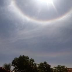 Halo aparece no céu do Maranhão