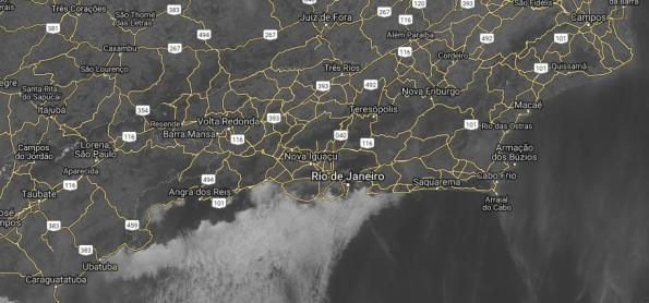 Nevoeiro marítimo na costa do Rio de Janeiro