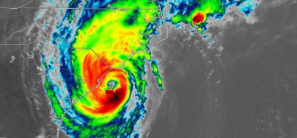 Dorian atinge a Carolina do Norte e do Sul