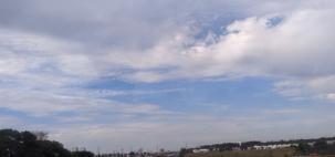Quinta-feira com sol e pancadas de chuva em SP