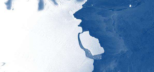 Iceberg gigantesco se desprende na Antártida