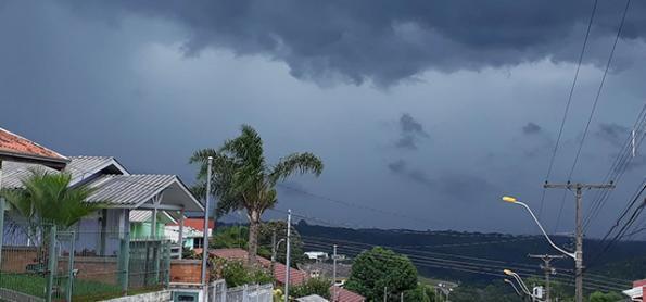 Alerta para o risco de temporais no Rio Grande do Sul