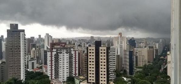 Mais pancadas de chuva sobre a Grande Belo Horizonte