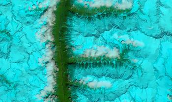 Alfabeto visto nas imagens de satélite: de A a M