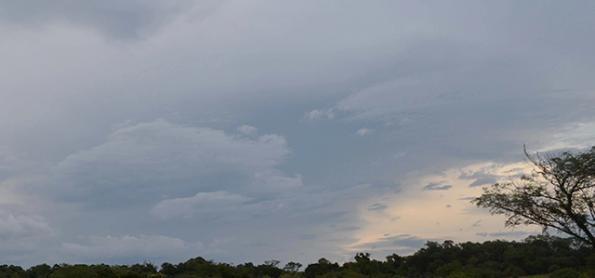 Pancadas de chuva no Sul nesta terça