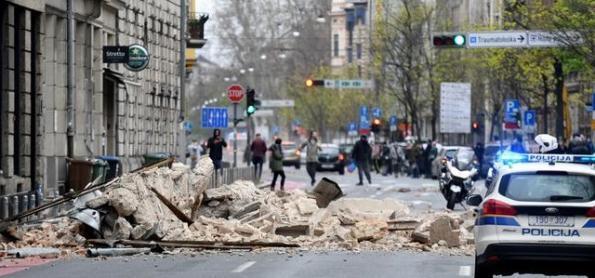 Terremoto leva pânico à Croácia durante crise de coronavírus