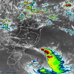 Ciclone extratropical provoca ventos de 150 km/h no Sul do BR