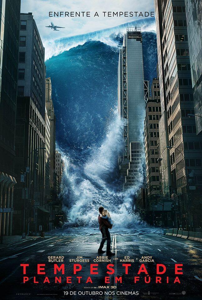 Tempestada planeta em furia