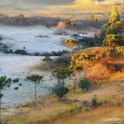 Geada e temperaturas negativas na Serra Catarinense
