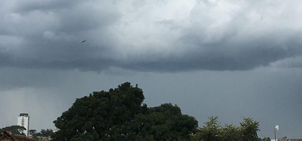 Muita chuva sobre o Rio Grande do Sul