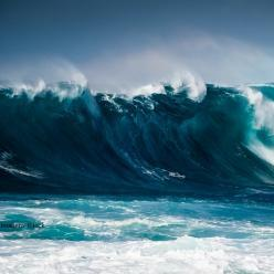 Grandes ondas e risco de ressaca no Sul e no Sudeste