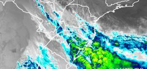 Formação de ciclone extratropical provoca muita chuva no Sul