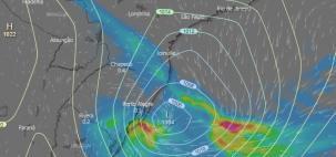 O novo ciclone vai passar sobre São Paulo e Rio de Janeiro?