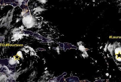Depressão Tropical avança na Península de Yucatan
