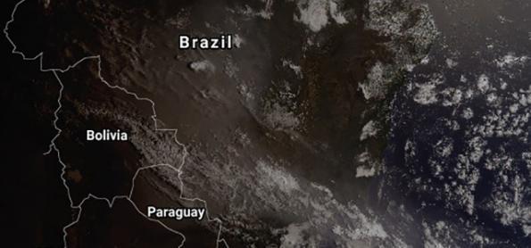 Fumaça das queimadas deixa cidade de São Paulo embaçada e poluída